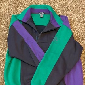 Vintage Nautica Pullover with crest on shoulder